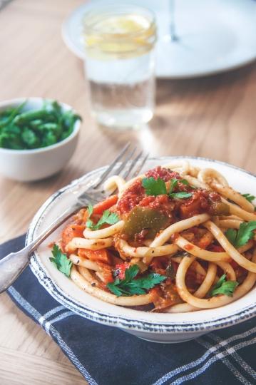 Roasted Vegetable Bucatini