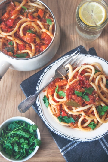 Roasted Vegetable Bucatini3